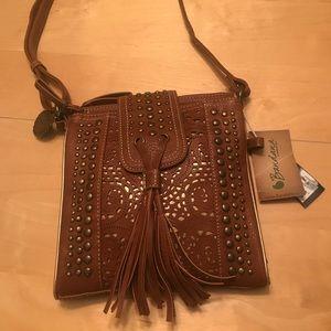 Brand new Vegan crossbody purse with tags!